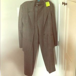 2 pc gray women's suit
